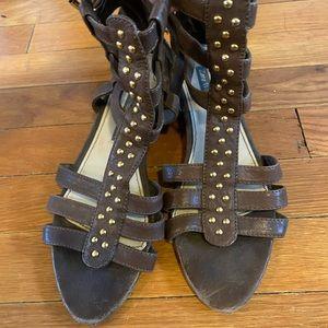 Zara vintage Gladiator leather brown 8 sandals